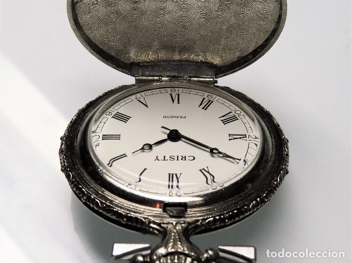 Relojes de bolsillo: CRISTY DE BOLSILLO MECANICO DE CUERDA MANUAL - Foto 2 - 114835567