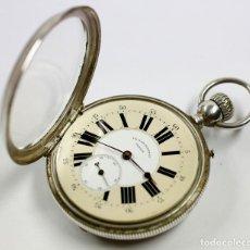 Relojes de bolsillo: RELOJ DE PLATA DE BOLSILLO VICTOR JEANNOT, SUIZA. EN FUNCIONAMIENTO. Lote 114874295