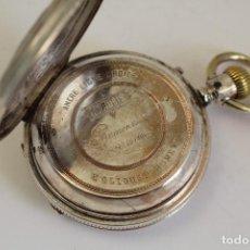 Relojes de bolsillo: RELOJ DE BOLSILLO ANCRE LIGNE DROITE REMONTOIR - PLATA LABRADA - FUNCIONA . Lote 119594424