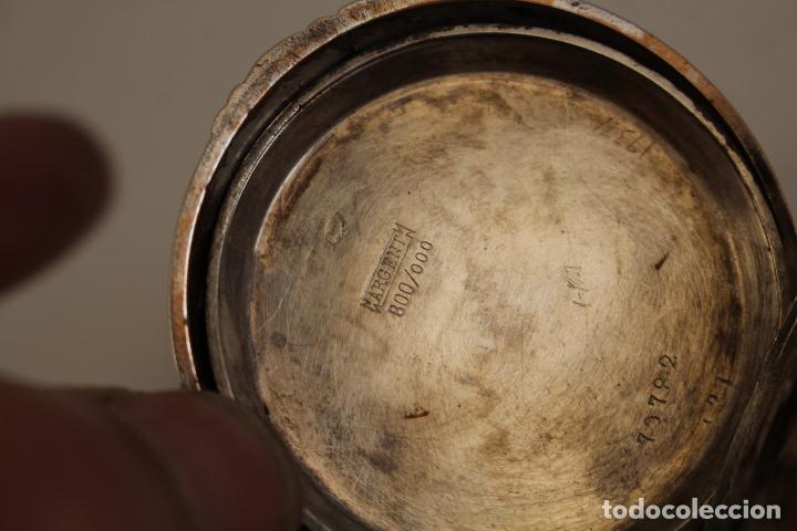 Relojes de bolsillo: reloj de bolsillo ancre ligne droite remontoir - plata labrada - funciona - Foto 16 - 119594424