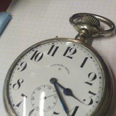 Relojes de bolsillo: ENORME ANTIGUO RELOJ DE BOLSILLO CRONOMETRO OBRERO FUNCIONANDO. Lote 113471126