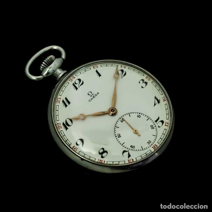 ELEGANTE RELOJ DE BOLSILLO, SUIZO, DE LA MARCA OMEGA, DE CUERDA MANUAL Y FUNCIONANDO (Relojes - Bolsillo Carga Manual)