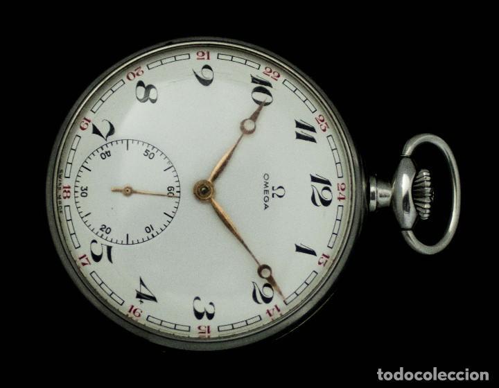 Relojes de bolsillo: ELEGANTE RELOJ DE BOLSILLO, SUIZO, DE LA MARCA OMEGA, DE CUERDA MANUAL Y FUNCIONANDO - Foto 2 - 115278855