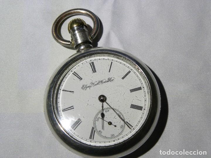 95a43c387 6 fotos RELOJ DE BOLSILLO ELGIN (USA) 18S GRAN TAMAÑO - FUNCIONANDO  CORRECTAMENTE (Relojes ...