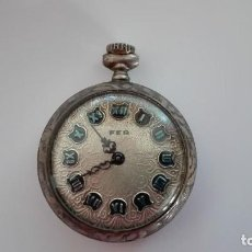 Relojes de bolsillo: BONITO RELOJ DE PLATA FEMENINO FER DE CUERDA. Lote 115696503