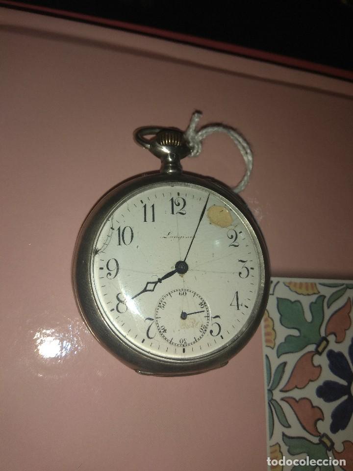 ANTIGUO RELOJ DE BOLSILLO LONGINES 6 GRANDS PRIX - NO FUNCIONA - (Relojes - Bolsillo Carga Manual)
