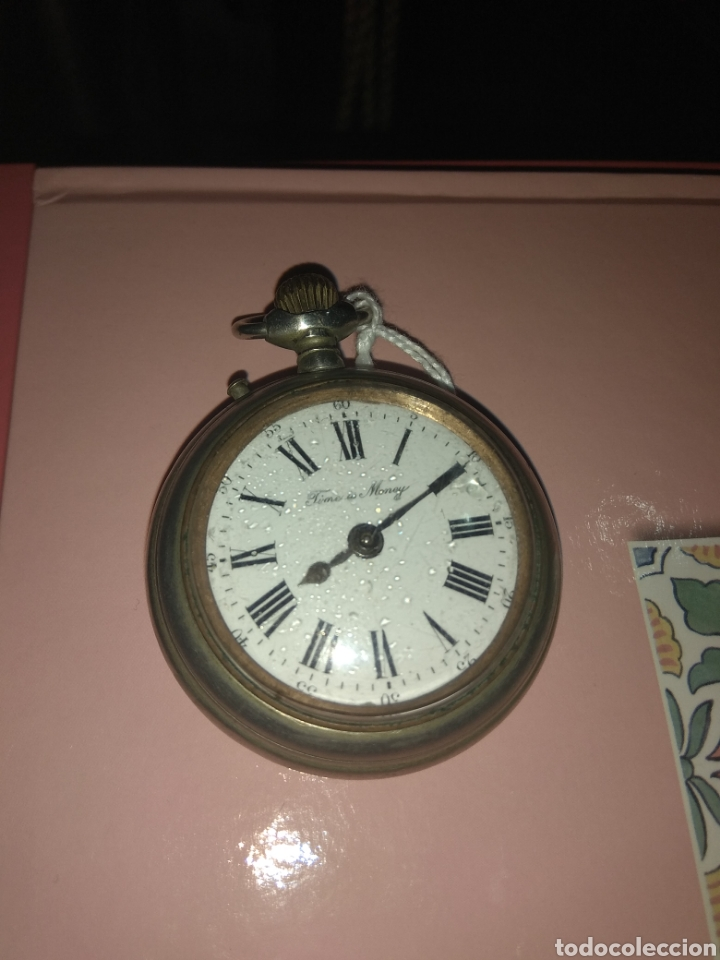 RELOJ BOLSILLO ROBERT TISSOT - TIME IS MONEY - NO FUNCIONA - (Relojes - Bolsillo Carga Manual)