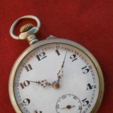 Relojes de bolsillo: ANTIGUO RELOJ SUIZO ALEMÁN DE BOLSILLO MECÁNICO DE CUERDA MANUAL AÑO 1880 1900 Y FUNCIONA BIEN. Lote 115951355