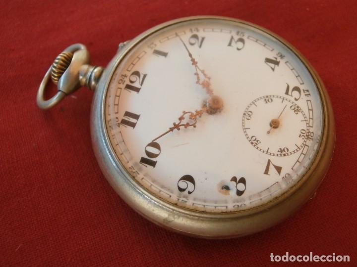Relojes de bolsillo: Antiguo reloj suizo alemán de bolsillo mecánico de cuerda manual año 1880 1900 y funciona bien - Foto 2 - 115951355
