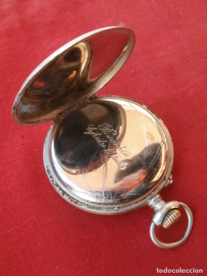 Relojes de bolsillo: Antiguo reloj suizo alemán de bolsillo mecánico de cuerda manual año 1880 1900 y funciona bien - Foto 6 - 115951355