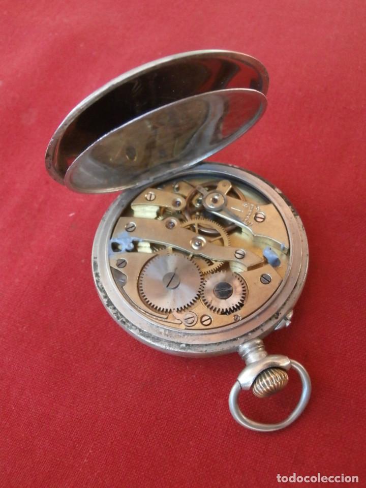 Relojes de bolsillo: Antiguo reloj suizo alemán de bolsillo mecánico de cuerda manual año 1880 1900 y funciona bien - Foto 8 - 115951355