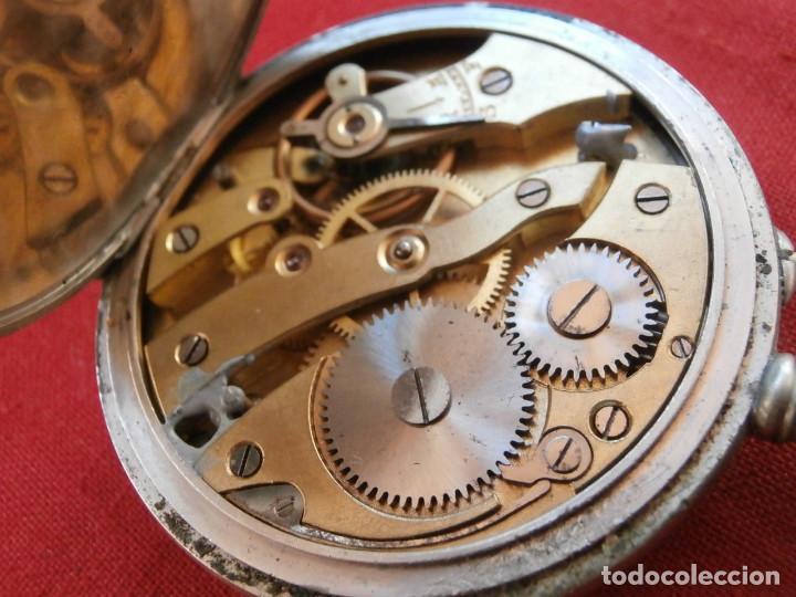 Relojes de bolsillo: Antiguo reloj suizo alemán de bolsillo mecánico de cuerda manual año 1880 1900 y funciona bien - Foto 9 - 115951355