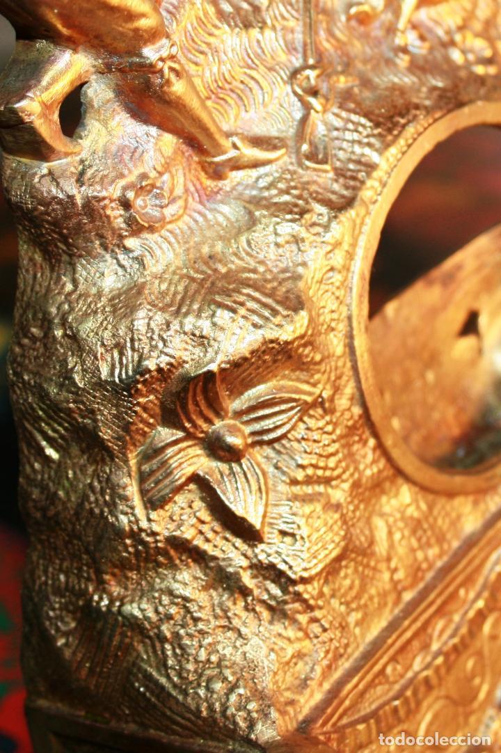 Relojes de bolsillo: RELOJERA SOPORTE PARA RELOJ DE BOLSILLO EN BRONCE FRANCES FINALES SIGLO XIX - Foto 5 - 116252767
