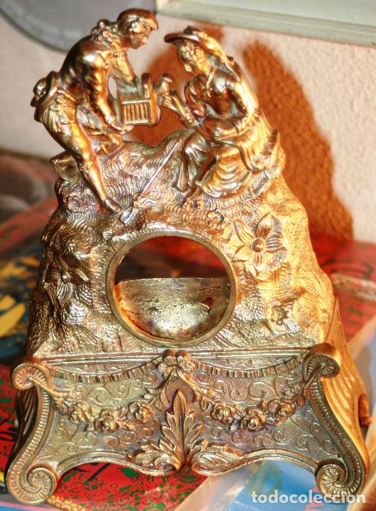 Relojes de bolsillo: RELOJERA SOPORTE PARA RELOJ DE BOLSILLO EN BRONCE FRANCES FINALES SIGLO XIX - Foto 7 - 116252767