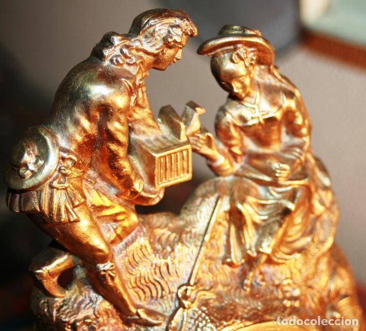 Relojes de bolsillo: RELOJERA SOPORTE PARA RELOJ DE BOLSILLO EN BRONCE FRANCES FINALES SIGLO XIX - Foto 9 - 116252767