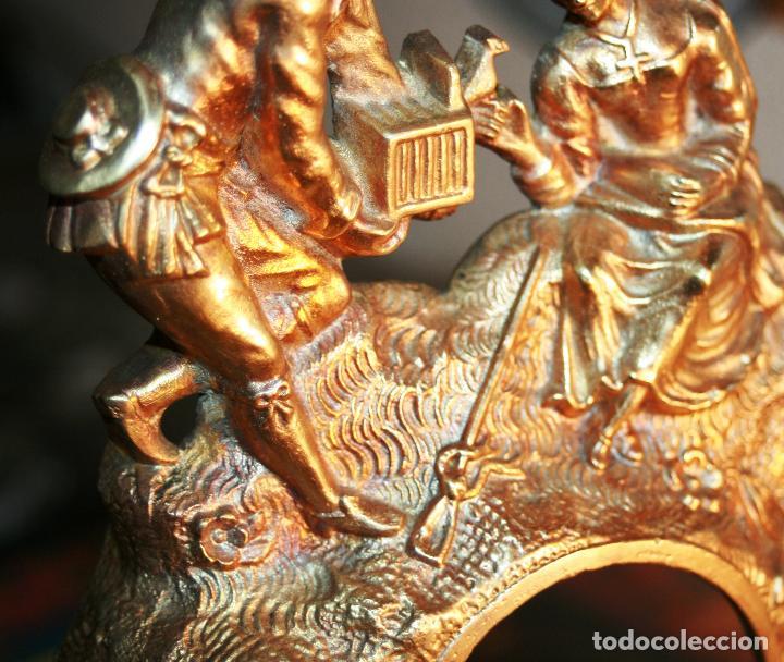 Relojes de bolsillo: RELOJERA SOPORTE PARA RELOJ DE BOLSILLO EN BRONCE FRANCES FINALES SIGLO XIX - Foto 11 - 116252767
