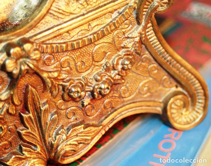 Relojes de bolsillo: RELOJERA SOPORTE PARA RELOJ DE BOLSILLO EN BRONCE FRANCES FINALES SIGLO XIX - Foto 12 - 116252767