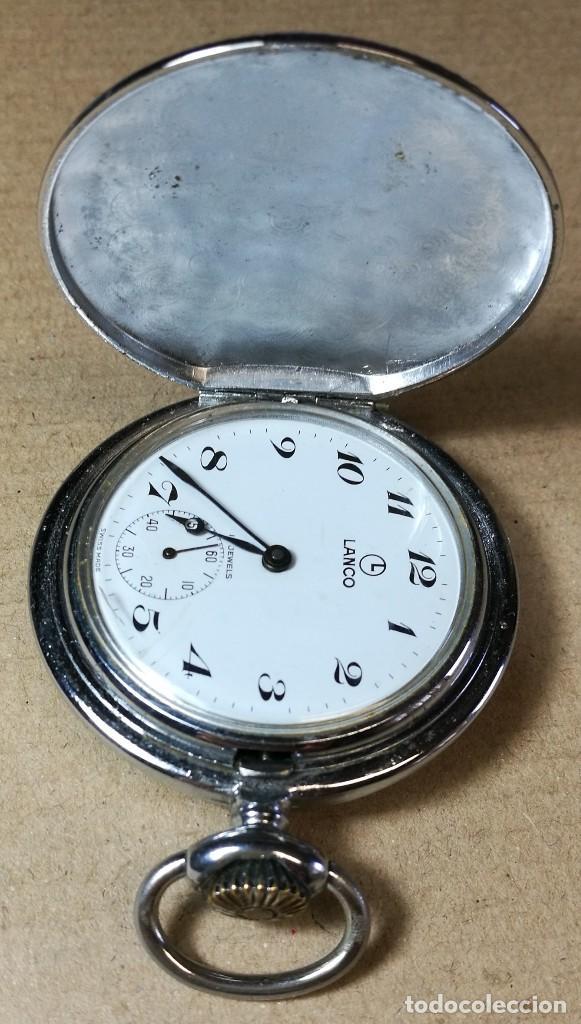 Reloj de bolsillo marca lanco suizo. 15 rubis jewels en maquina. FUNCIONANDO 7f84ce6eec8d