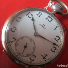Relojes de bolsillo: RELOJ ANTIGUO DE BOLSILLO MARCA OMEGA. CAJA DE PLATA. Lote 116422807