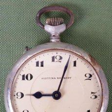Relojes de bolsillo: RELOJ DE BOLSILLO SISTEMA ROSKOPF. CAJA DE METAL PLATEADO. SIGLO XX. . Lote 116441279