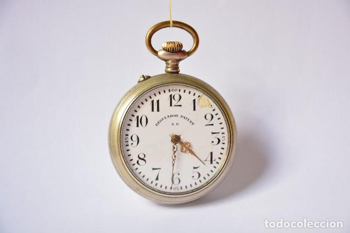 REGULADOR PATENT AB. RELOJ DE BOLSILLO (Relojes - Bolsillo Carga Manual)