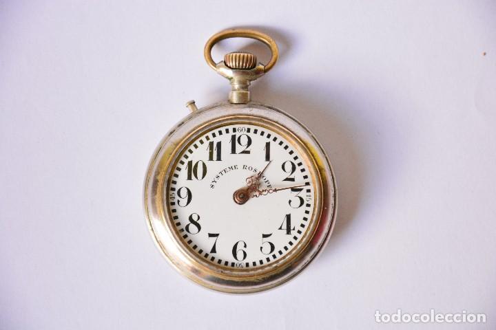 RELOJ DE BOLSILLO ANTIGUO SYSTEME ROSKOPF - FUNCIONA (Relojes - Bolsillo Carga Manual)