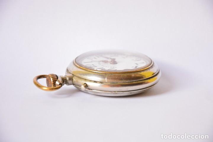 Relojes de bolsillo: Reloj de bolsillo antiguo Systeme Roskopf - Funciona - Foto 4 - 116484259