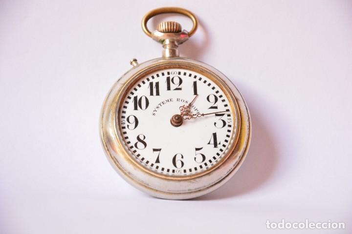Relojes de bolsillo: Reloj de bolsillo antiguo Systeme Roskopf - Funciona - Foto 6 - 116484259
