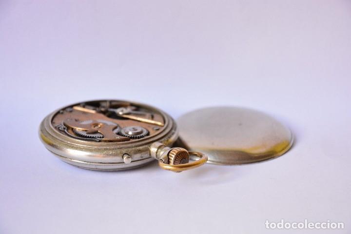 Relojes de bolsillo: Reloj de bolsillo antiguo Systeme Roskopf - Funciona - Foto 5 - 116484259