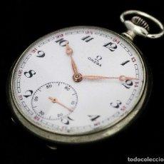 Relojes de bolsillo: ELEGANTE RELOJ DE BOLSILLO, DE OMEGA, CUERDA MANUAL, Y FUNCIONANDO PERFECTAMENTE. Lote 116602239