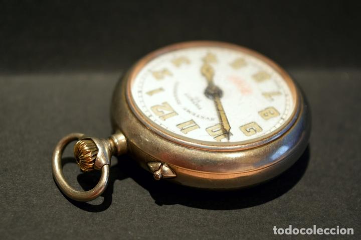 Relojes de bolsillo: RELOJ DE BOLSILLO CARGA MANUAL SUIZO MARCA DOGG SISTEMA ROSKOPF FUNCIONANDO SWISS MADE - Foto 4 - 108353299