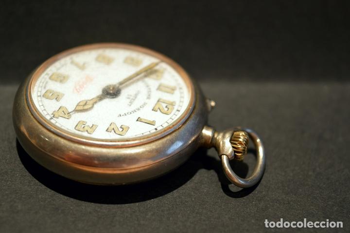Relojes de bolsillo: RELOJ DE BOLSILLO CARGA MANUAL SUIZO MARCA DOGG SISTEMA ROSKOPF FUNCIONANDO SWISS MADE - Foto 5 - 108353299