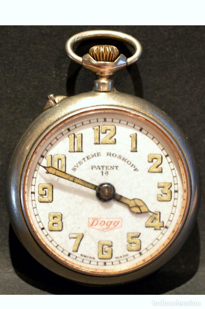 Relojes de bolsillo: RELOJ DE BOLSILLO CARGA MANUAL SUIZO MARCA DOGG SISTEMA ROSKOPF FUNCIONANDO SWISS MADE - Foto 9 - 108353299