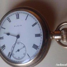 Relojes de bolsillo: RELOJ CHAPADO EN ORO ELGIN 1910 USA FUNCIONANDO. Lote 116994799