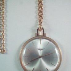 Relojes de bolsillo: LONGINES ORO 18K. RELOJ DE BOLSILLO, LEPIN CON LEONTINA.. Lote 117004095
