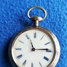 Relojes de bolsillo: RELOJ DE BOLSILLO EN PLATA CON LEONTINA. Lote 117253367