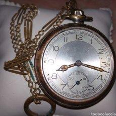 Relojes de bolsillo: ANTIGUO RELOJ DE BOLSILLO MARCA FRANCESA POSIBLEMENTE CON INICIALES VER FOTOS. Lote 117325318
