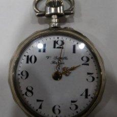 Relojes de bolsillo: RELOJ DE BOLSILLO. V.GREDILLA. BURGOS. PLATA. EXAGONAL. 2 TAPAS. Lote 117350883