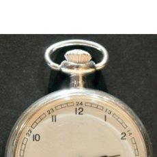 Relojes de bolsillo: RELOJ DE BOLSILLO CARGA MANUAL Y AUTOMATICO CONMEMORATIVO LOUIS BLEIROT 1909 BAÑO EN PLATA. Lote 117356443
