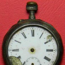 Relojes de bolsillo: RELOJ SABONETA - PESO: 58 GRAMOS - DIMENSIONES: 45 MM DE DIAMETRO. PRECISA RESTAURACIÓN Y LIMPIEZA.. Lote 118167355