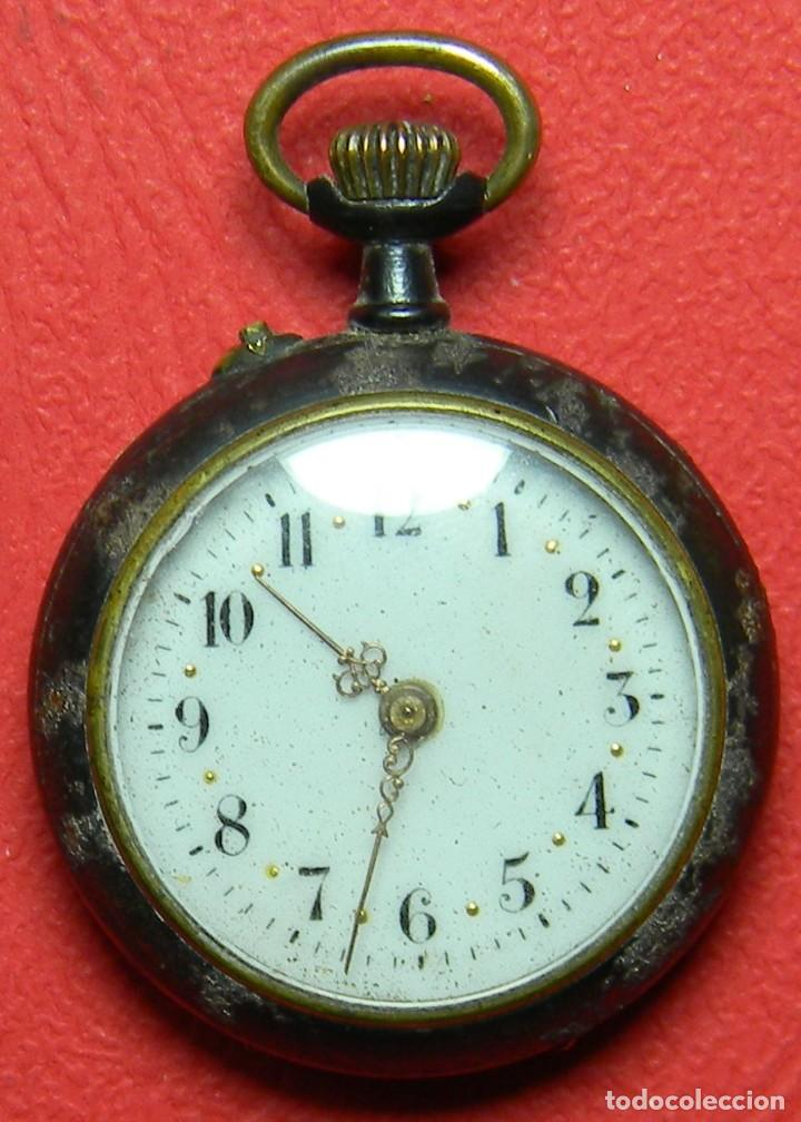 RELOJ TIPO LEPINE - SEÑORA - PESO: 22 GRAMOS - DIAMETRO 30 MM - METAL NIELADO (Relojes - Bolsillo Carga Manual)