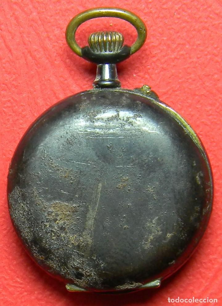 Relojes de bolsillo: Reloj tipo Lepine - Señora - Peso: 22 gramos - Diametro 30 mm - Metal nielado - Foto 2 - 118558383