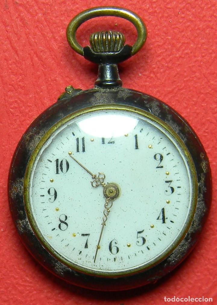 Relojes de bolsillo: Reloj tipo Lepine - Señora - Peso: 22 gramos - Diametro 30 mm - Metal nielado - Foto 5 - 118558383