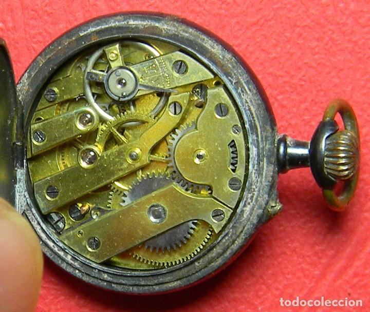 Relojes de bolsillo: Reloj tipo Lepine - Señora - Peso: 22 gramos - Diametro 30 mm - Metal nielado - Foto 7 - 118558383