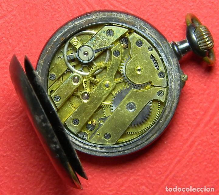 Relojes de bolsillo: Reloj tipo Lepine - Señora - Peso: 22 gramos - Diametro 30 mm - Metal nielado - Foto 8 - 118558383