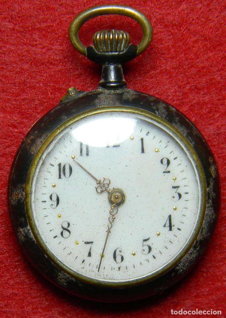 Relojes de bolsillo: Reloj tipo Lepine - Señora - Peso: 22 gramos - Diametro 30 mm - Metal nielado - Foto 10 - 118558383