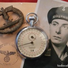 Relojes de bolsillo: ANTIGUO CRONOMETRO MILITAR ALEMÁN II SEGUNDA GUERRA MUNDIAL III REICH USADO POR LA KRIEGSMARINE. Lote 118667319