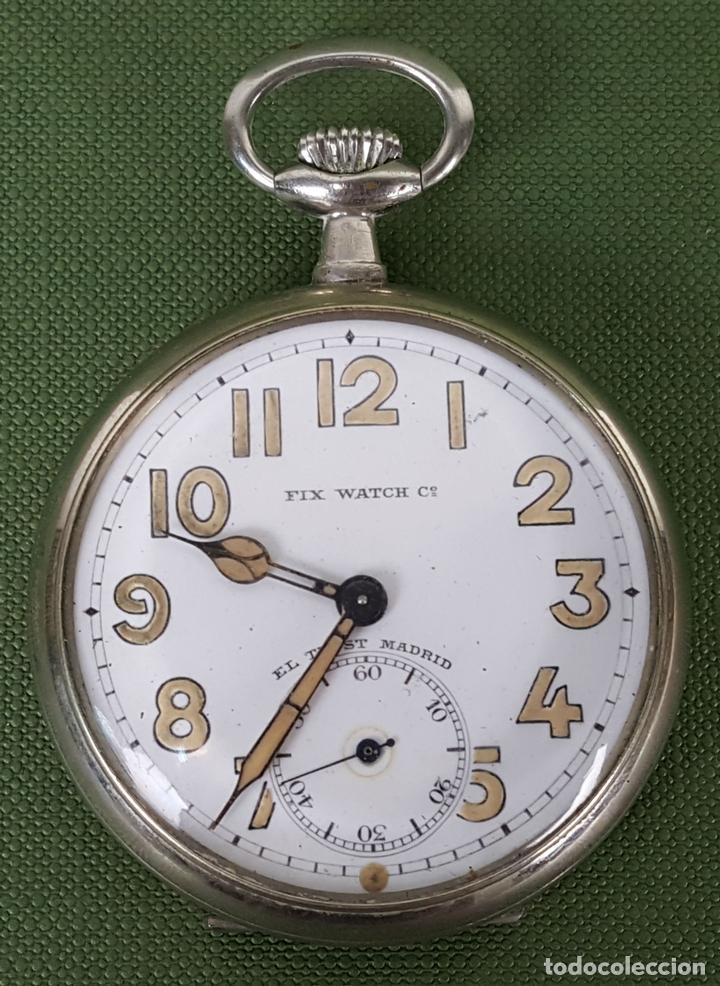 RELOJ DE BOLSILLO. FIX WATCH. EL TRUST MADRID. ACERO INOXIDABLE. CIRCA 1930. (Relojes - Bolsillo Carga Manual)