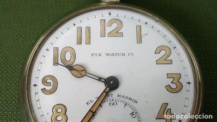 Relojes de bolsillo: RELOJ DE BOLSILLO. FIX WATCH. EL TRUST MADRID. ACERO INOXIDABLE. CIRCA 1930. - Foto 4 - 118764491