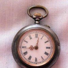 Relojes de bolsillo: RELOJ DE BOLSILLO ANTIGUO CAJA PAVONADA. Lote 118812031